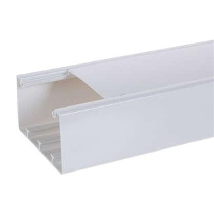 Купить Кабель-канал Экопласт Insta 100х55 мм цвет белый 2 м дешевле