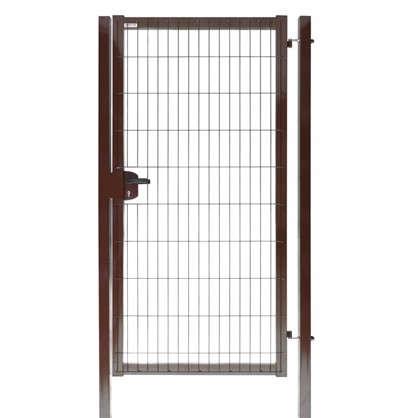 Калитка Medium 2.03x1.0 м коричневая RAL 8017