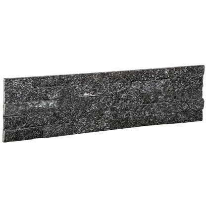 Купить Камень натуральный Кварцит цвет чёрный 0.63 м2 дешевле