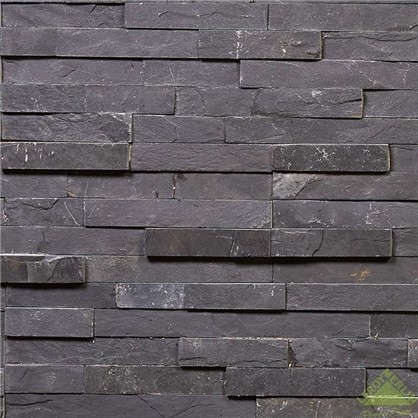 Камень натуральный Сланец цвет чёрный 0.63 м2
