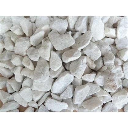Каменная крошка декоративнаяМраморная 16 л 10-20 мм цвет белый