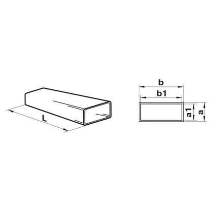 Канал плоский Equation 55х110х2000 мм