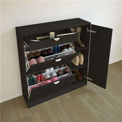 Каркас закрытой обувницы 950х1030х300 мм цвет венге