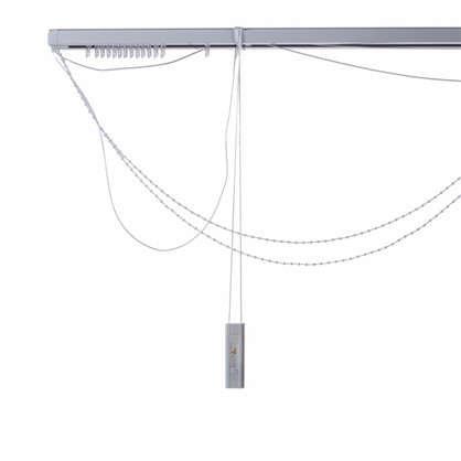 Купить Карниз для вертикальных жалюзи к механизму 120х180 см металл цвет черно-белый дешевле