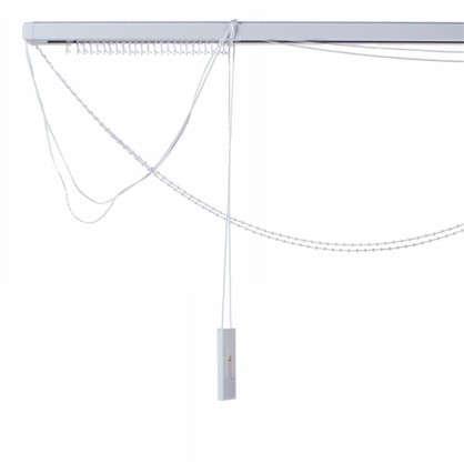 Купить Карниз для вертикальных жалюзи к механизму 200х180 см металл цвет черно-белый дешевле