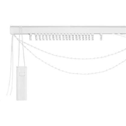 Купить Карниз для вертикальных жалюзи от центра 240х180 см металл цвет черно-белый дешевле