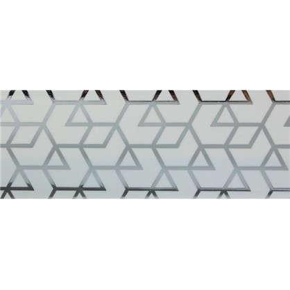 Карниз двухрядный Модерн хром цвет белый 160см