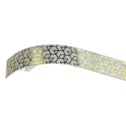Карниз двухрядный Модерн золото цвет белый 160см