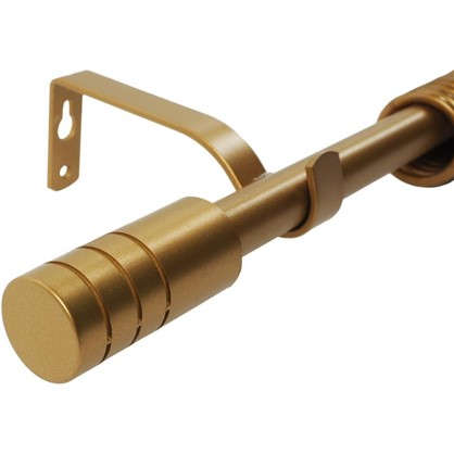 Карниз однорядный Цилиндр раздвижной 160-300 см цвет матовое золото