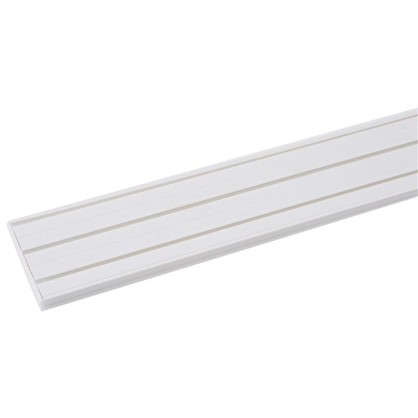 Карниз шинный трехрядный Эконом в наборе 160 см пластик цвет белый