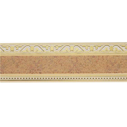Карниз шинный трехрядный Монарх в наборе 200 см пластик цвет песок