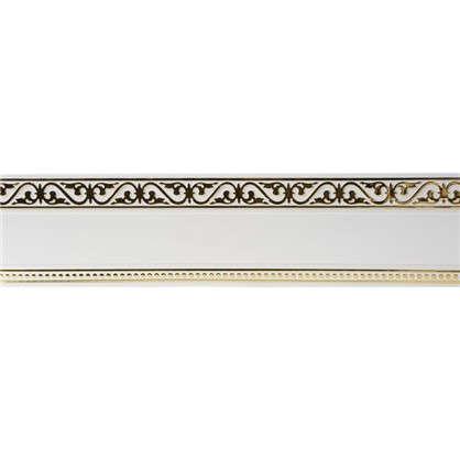 Карниз шинный трехрядный Монарх в наборе 240 см пластик цвет белый глянец