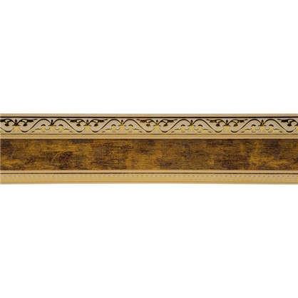 Купить Карниз шинный трехрядный Монарх в наборе 240 см пластик цвет золото антик дешевле