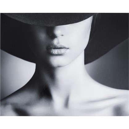 Купить Картина без рамы Девушка в шляпе 40х50 см дешевле