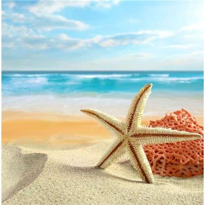 Картина на холсте 30х30 см Морская звезда