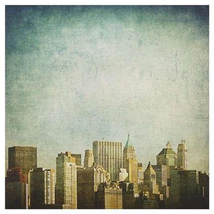 Картина на холсте 30х30 см Небо Нью-Йорка