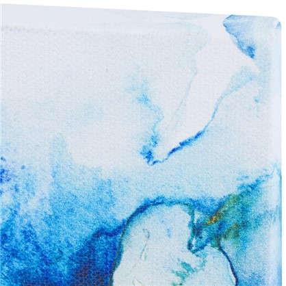 Картина на холсте 30х30 см Принт голубые цветы-3