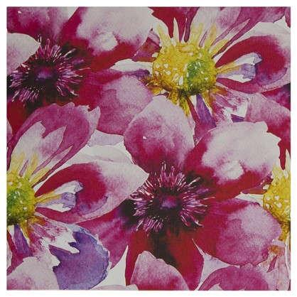 Картина на холсте 30х30 см Принт розовые ромашки