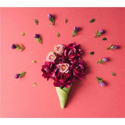 Картина на холсте 40х40 см Рожок с розами