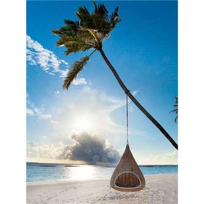 Купить Картина на холсте 40х50 см Качели на пляже дешевле