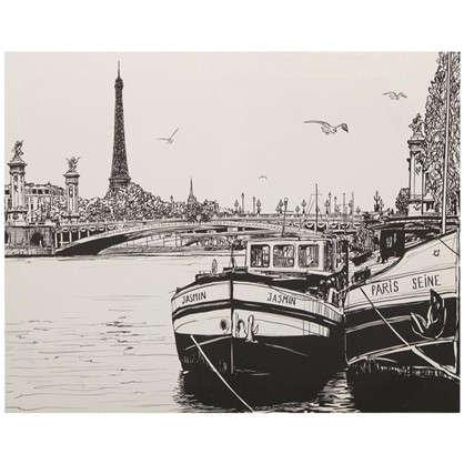 Купить Картина на холсте 40х50 см Лодки дешевле