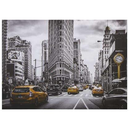 Купить Картина на холсте 50х70 см Нью-Йорк Такси дешевле