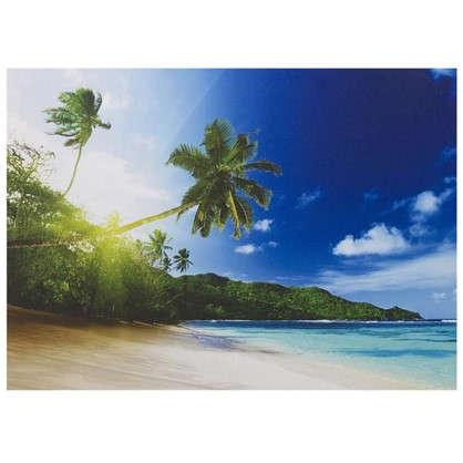 Картина на холсте 50х70 см Пальмы на пляже
