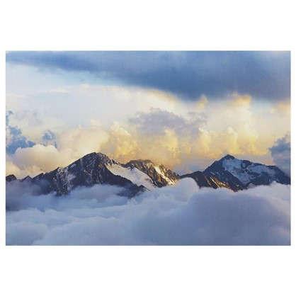 Купить Картина на холсте 50х70 см Вершины гор дешевле