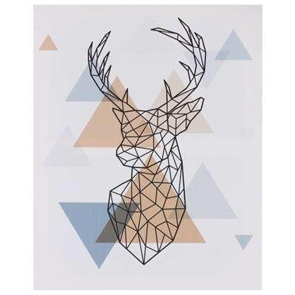 Картина на холсте Арт Голова оленя 40х50 см