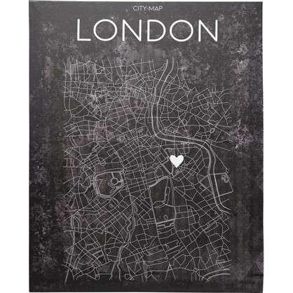 Картина на холсте Карта лондона 40х50 см