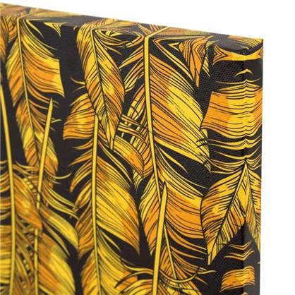 Картина на холсте Золотые перья 30х30 см