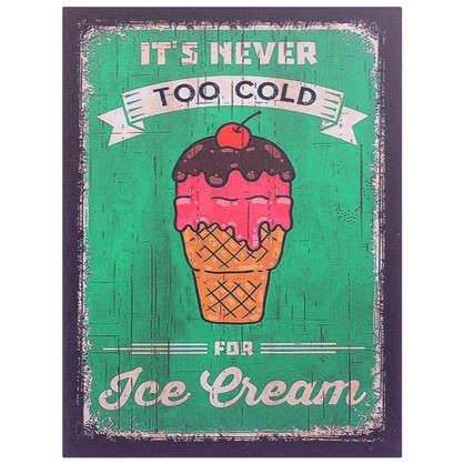 Купить Картина на МДФ Мороженое 30х40 см дешевле