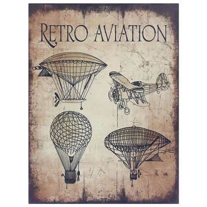 Картина на МДФ Retro Aviation 30х40 см