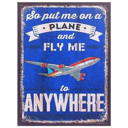 Картина на МДФ Самолет 30х40 см