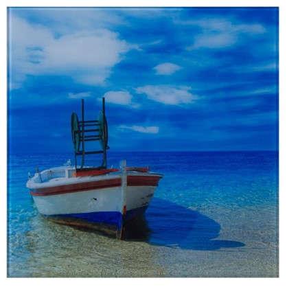 Картина на стекле 30х30 см Лодка