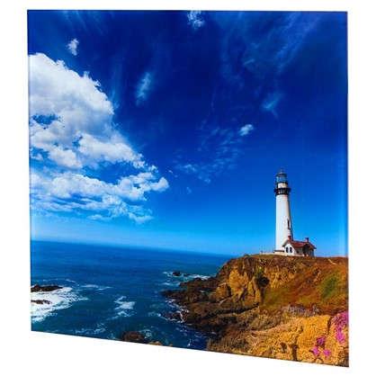 Картина на стекле 30х30 см Маяк Калифорния