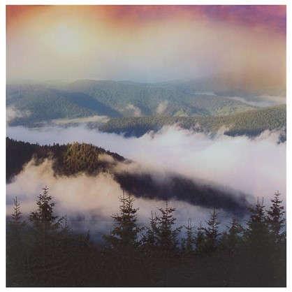 Картина на стекле 30х30 см Мистические горы