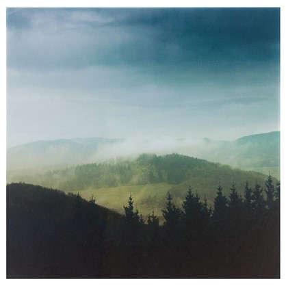 Картина на стекле 30х30 см Облака над горами