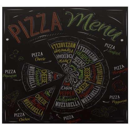 Картина на стекле 30х30 см Пицца