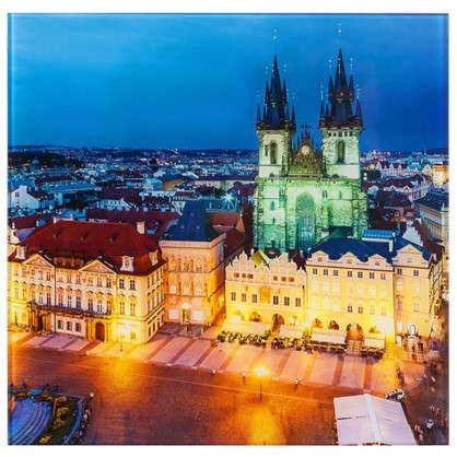 Картина на стекле 30х30 см Прага Чехия