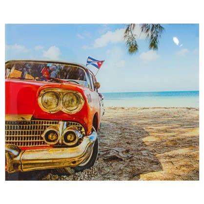 Купить Картина на стекле 40х50 см Машина на пляже дешевле