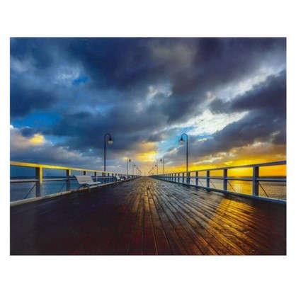 Купить Картина на стекле 40х50 см Пирс на Балтике дешевле