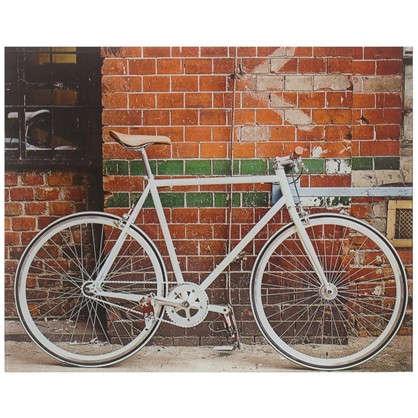 Купить Картина на стекле 40х50 см Велосипед у стены дешевле