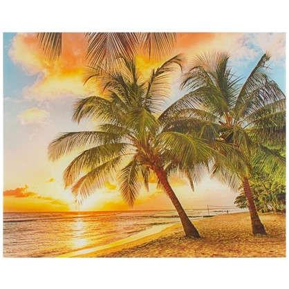 Картина на стекле 40х50 см Закат на пляже