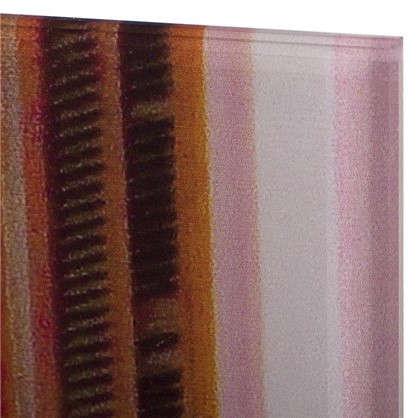 Картина на стекле 50x70 см Яркая улица