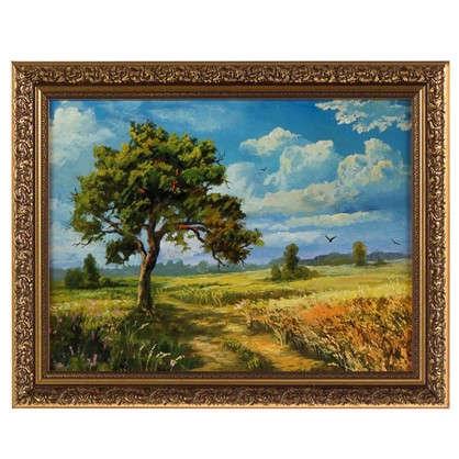 Картина в раме 30x40 см Дерево в поле