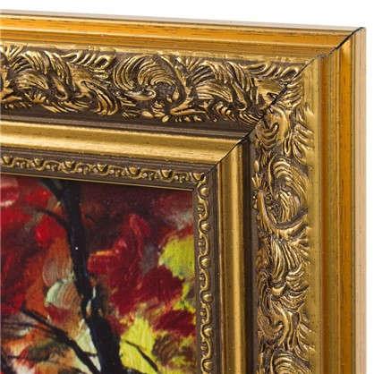 Купить Картина в раме 30x40 см Осенний красный лес дешевле