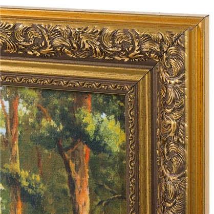 Картина в раме 40x50 см Домик в лесу