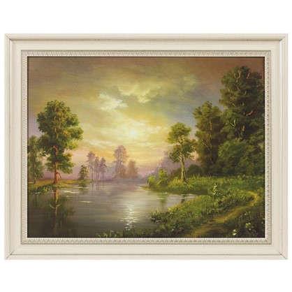 Купить Картина в раме 40x50 см Пейзаж озеро дешевле
