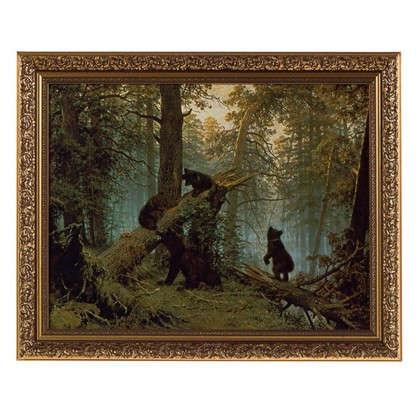 Купить Картина в раме 40x50 см Утро в сосновом бору дешевле